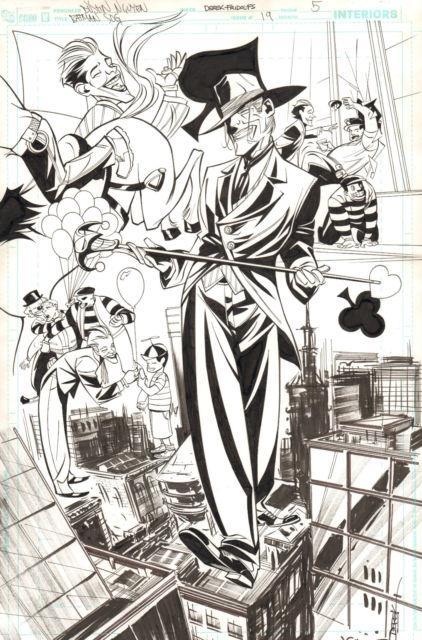 Batman Streets Of Gotham #19 P. 5 Awesome Joker Splash 2011 Art By Dustin Nguyen