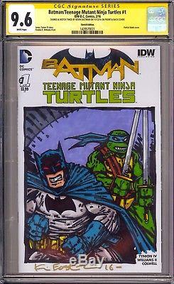 Batman/Teenage Mutant Ninja Turtles #1 CGC SS 9.6 Sketch Twice By Kevin Eastman