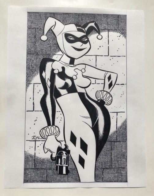 Batman The Animated Series Harley Quinn Original Art Commission Bruce Timm Btas