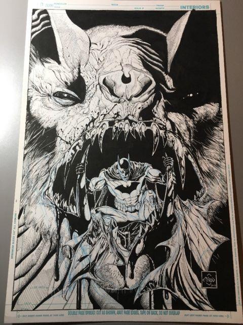 Batman The Dark Knight #17 Original Cover Art Ethan Van Sciver