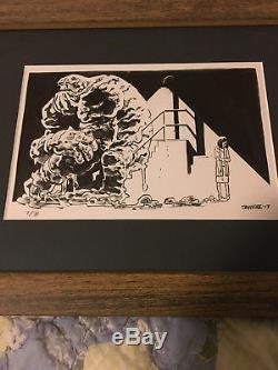 Batman original art by Chris Samnee Batman the animated series Clayface