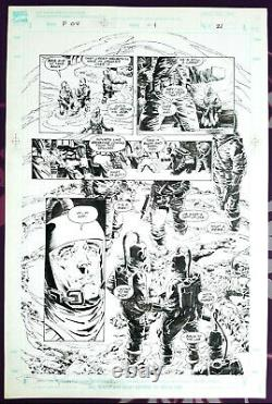 Bernie WRIGHTSON / Jim Starlin Punisher P. O. V. 1991 Large Art