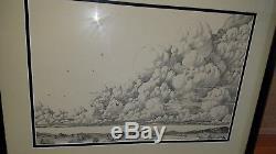 Bernie Wrightson Original Art Cycle of the Werewolf April Plate Artwork 1981