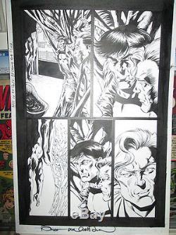 Bernie Wrightson PUNISHER 3 GORY BONDAGE ORIGINAL ART Signed Marvel Page B/W `99