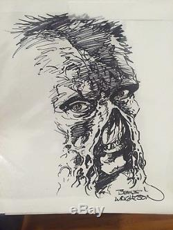 Bernie Wrightson Sketch Swampthing Signed