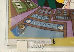 Big Winner The Simpsons Hand Painted Original Production Art Animation Cel