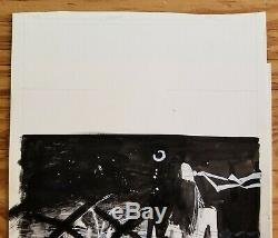 Bill Sienkiewicz Elektra/Kingpin splash panel original art, unpublished page