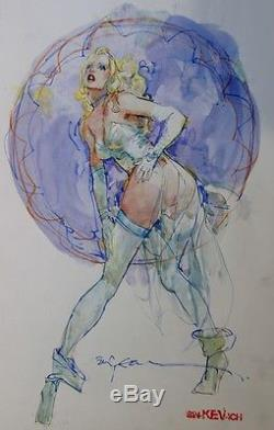 Bill Sienkiewicz White Queen Original Painted Art X Men