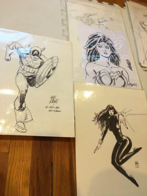 Bill Sienkiewicz Original Comic Art Black Widow Signed Early Years