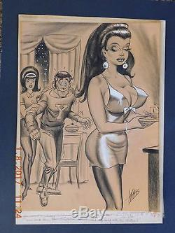 Bill Ward Original Conti Crayon Art