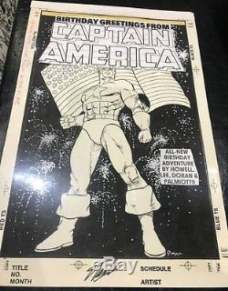 Birthday Greetings From Captain America Cover Signed art by Colleen Doran