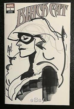 Black Cat 1 Adam Hughes Original Art Sketch Cover Near Mint