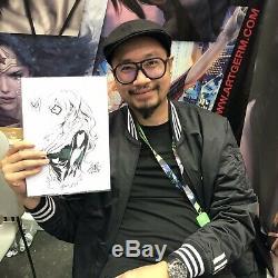 Black Cat Ink Sketch By Stanley Artgerm Lau! Felicia Hardy/Spider-Man