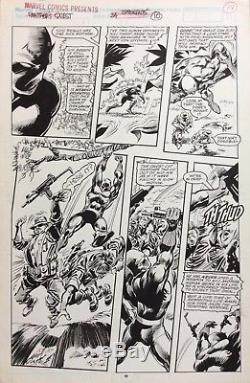 Black Panther Gene Colan Original Comic Art