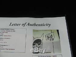 Bob Kane Original Authentic Batman Signed Dated Drawing Art 1978 Justice League