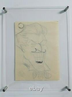 Bob Kane Signed Joker Concept Art Gallery Stamped