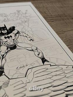 Bob Layton Original Art Batman, Robin, Catwoman, Joker, Penguin (11x17)