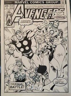 Bob Layton Original Comic Art Avengers 122 Recreation Iron Man Thor