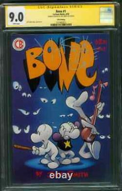 Bone 1 CGC 9.0 SS Jeff Smith Original art sketch 5th Print CARTOON 6/1993