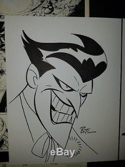 Bruce Timm Batman And Joker Art Sketch