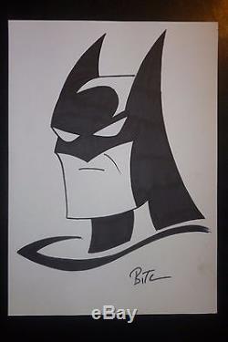 Bruce Timm, Batman sketch original comoc art, Marvel, Harley Queen