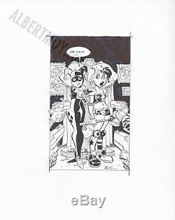 Bruce Timm HARLEY QUINN cover RARE HTF Original Art BTAS Batman prelim