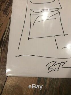 Bruce Timm Original Basic Sketch Batman B. T. Signed