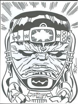 Bruce Timm original art sketch of MODOK! Batman the animated series artist