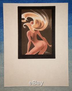 Bruce Timm original nude painting, circa 1999