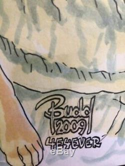 Budd Root Original Cave woman measures 17x14 inches