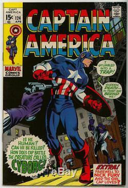 Captain America 124 Original Art Page / 1970 Gene Colan & Joe Sinnott