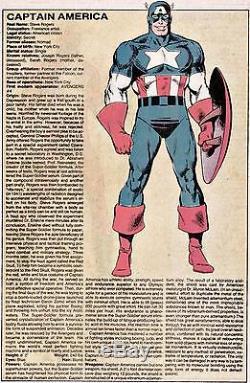 CAPTAIN AMERICA Official Handbook Marvel Universe Original Comic Art Mike Zeck