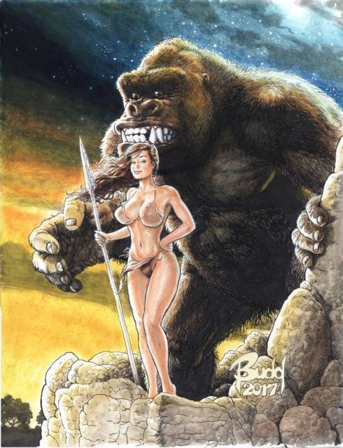 Cavewoman Original Cover Artwork By Budd Root Cw Raptorella's Revenge 1 Cvr D