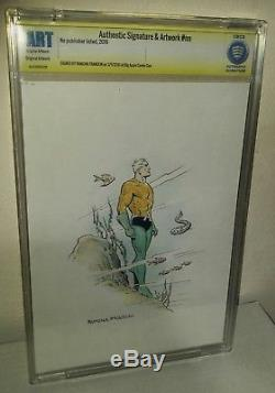 CBCS Authenticated Ramona Fradon Original Artist of 1st S. A Aquaman. Colored Art