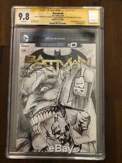 CGC 9.8 SS Original Art BATMAN 0 Sketch Jim Lee Frank Miller David Finch Kirkham