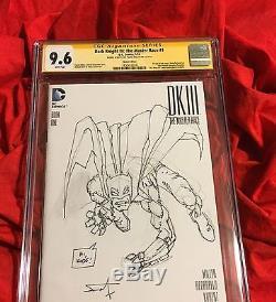 Cgc Ss 9.6dark Knight III 3 #1original Sketch Artsigned Frank Millerbatman