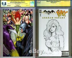 CGC SS 9.8 Batman Maxx #1 Nathan Szerdy Variant Original Poison Ivy Art Sketch