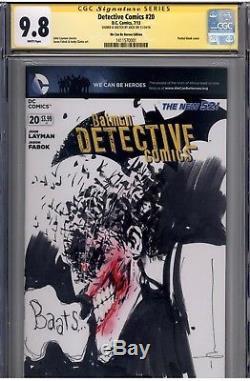 CGC SS 9.8 Detective Comics #20 Joker sketch cover by Jock Super Rare