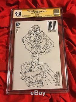 Cgc Ss 9.8batman Dark Knight III 3#1original Full Fig Sketch Artfrank Miller