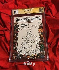 Cgc Ss 9.8marvels Project #1original Daredevil Sketch Artfrank Millerbatman