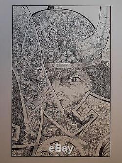 CONAN THE ADVENTURER #8 Original COVER Art by RAFAEL KAYANAN 1994