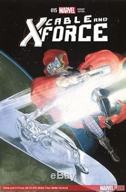 Cable and X-Force Painted Cover Silver Surfer vs Thor 2012 art by Esad Ribic