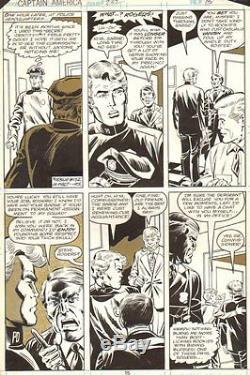Captain America #232 p. 15 Cap in Police Rookie Disguise 1979 Sal Buscema