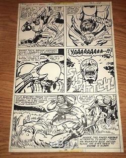 Captain America Annual 4 Page 24 Original Comic Art Jack Kirby