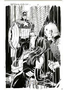 Captain America Fallen Son ORIGINAL Comic Art #3 pg 18 Hawkeye SPLASH Romita