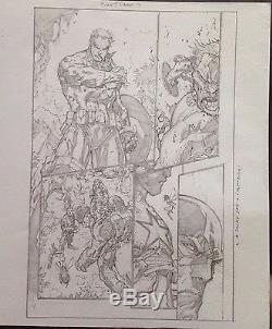 Captain America, Iron Man, Wolverine Joe Madureira original art, Ultimates