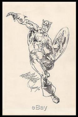 Captain America Original Art by Jim Steranko STUNNING