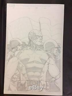 Captain America The Fighting Avenger Barry Kitson Cover Original Art