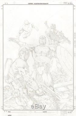 Carlos Pacheco Avengers original cover art Captain America Iron Man Hawkeye Fury