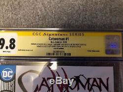 Catwoman #1 DC 2x Original Sketch Art Stanley Artgerm Lau & Joelle Jones CGC 9.8